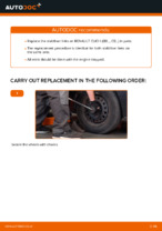 Step by step PDF-tutorial on Anti Roll Bar Links RENAULT CLIO II (BB0/1/2_, CB0/1/2_) replacement