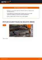 Como substituir a coluna de suspensão dianteira no OPEL CORSA C (F08, F68)