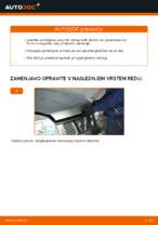 Menjava zadaj in spredaj Zavorne Ploščice NISSAN X-TRAIL: spletni vodič