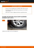 NISSAN Stabistange hinten links wechseln - Online-Handbuch PDF
