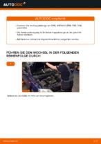 Wie Stabilisator Koppelstange hinten links beim OPEL ASTRA G Hatchback (F48_, F08_) wechseln - Handbuch online