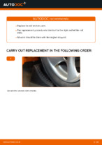 Replacing Tie rod end PEUGEOT 206: free pdf
