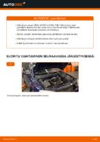 Kuinka vaihdat etujarrulevyt OPEL ASTRA G (T98, F08, F48) -autoon
