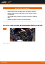 Kuinka vaihtaa etu-joustintuen laakeri OPEL ASTRA G (T98, F08, F48) malliin