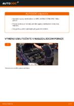 Ako vymeniť prednú vzperu stabilizátora na OPEL ASTRA G (T98, F08, F48)