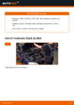 Kā nomainīt priekšējās piekares stabilizatora atsaiti OPEL ASTRA G (T98, F08, F48) automašīnai