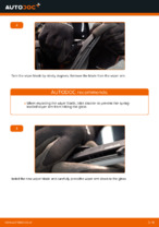 How to replace the rear wiper blades on TOYOTA RAV4 III (XA30)