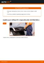 Kako zamenjati sprednje zavorno čeljusti na AUDI A4 B6