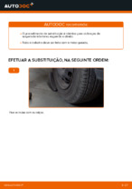 Como substituir o braço inferior da suspensão independente dianteira em OPEL CORSA C (F08, F68)