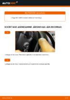 Kuidas vahetada ja reguleerida Pesurikumm VW CADDY: pdf juhend
