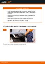 Hvordan bremseskiverne bag på AUDI A4 B6 udskiftes