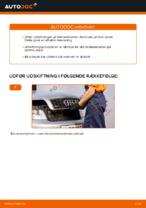Hvordan man udskifter bremseklodser til skivebremer i bag på AUDI A4 B6