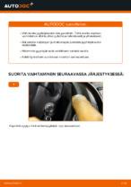 Kuinka vaihtaa ja säätää Tuulilasinpyyhkimet VW CADDY: pdf-opas