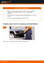 Ako vymeniť zadné brzdové platničky kotúčovej brzdy na AUDI A4 B6