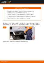 Kako zamenjati zavorne kolute na zadnjem delu pri AUDI A4 B6