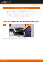 Menjava zadaj in spredaj Zavorne Ploščice AUDI naredi sam - navodila pdf na spletu