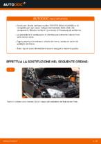 Come sostituire i dischi dei freni anteriori sulla TOYOTA RAV4 III (XA30)