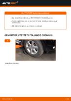 Hur man byter en främre stabilisatorlänk på TOYOTA RAV4 III (XA30)