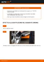 Come sostituire la barra stabilizzatrice posteriore su una TOYOTA RAV4 III (XA30)