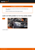 How to replace the lower arm of the front independent suspension on RENAULT SCENIC II (JM)