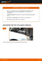bak och fram Bromsskivor VW GOLF | PDF instruktioner för utbyte