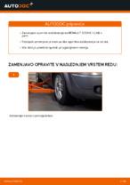 Kako zamenjati opornik stabilizatorja na RENAULT SCENIC II (JM)