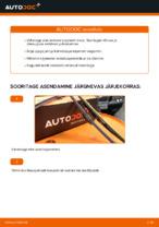 Kuidas vahetada esimesi klaasipuhasteid autol VOLVO V70 II (SW)
