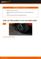 DIY PEUGEOT change Tie rod end - online manual pdf