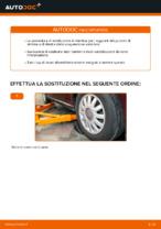 Come sostituire il montante supporto dell'ammortizzatore anteriore su AUDI A3 8L1