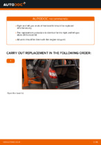 How to replace boot lid gas struts on RENAULT SCENIC II (JM)