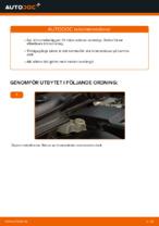 bak och fram Bromsbelägg VOLVO V70 | PDF instruktioner för utbyte