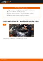 Kako zamenjati sprednje zavorne ploščice za kolutne zavore na RENAULT SCENIC II (JM)