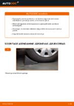 Kuidas asendada tagumist amortisaatori kinnitust autol VOLKSWAGEN PASSAT B6