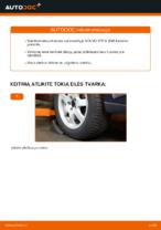Pasukimo trauklė keitimas: pdf instrukcijos VOLVO V70