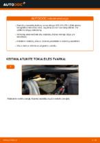 Kaip pakeisti priekinių diskinių stabdžių kaladėles VOLVO V70 II (SW)