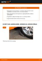 Kuidas asendada tagumist amortisaatori kinnitust autol Volkswagen Golf IV (1J)