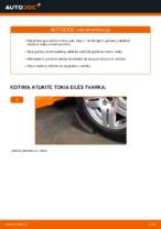 Kaip pakeisti galinės pakabos amortizatoriaus atramą Volkswagen Golf IV (1J)
