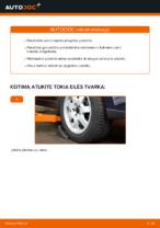 Instrukcijos PDF apie V70 priežiūrą