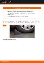 DIY manual on replacing Stabiliser link MERCEDES-BENZ A-CLASS (W169)