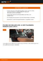 Installation von Wischblattsatz VW TRANSPORTER IV Bus (70XB, 70XC, 7DB, 7DW) - Schritt für Schritt Handbuch