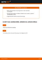 Kuidas vahetada ja reguleerida Amort VW GOLF: pdf juhend