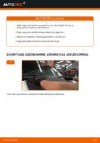 Paigaldus Pesurikumm VW TRANSPORTER IV Bus (70XB, 70XC, 7DB, 7DW) - samm-sammuline käsiraamatute