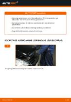 Kuidas asendada Mercedes-Benz W169 tagumisi pidurikettaid