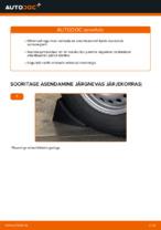 Paigaldus Amort VW TRANSPORTER IV Bus (70XB, 70XC, 7DB, 7DW) - samm-sammuline käsiraamatute