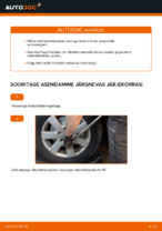 Kuidas asendada esimest Mercedes-Benz W169 amortisaatoripüstakut