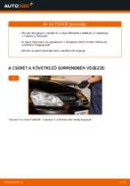VW GOLF hátsó és első Fékbetét készlet cseréje: kézikönyv online