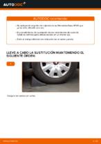 Tutorial paso a paso en PDF sobre el cambio de Pastillas De Freno en MERCEDES-BENZ A-CLASS (W169)