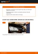 Kuidas vahetada esimesi piduriklotse või pidurikettaid autol VOLKSWAGEN GOLF V (1K)
