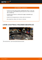Hvordan bremseskiverne bag på VOLKSWAGEN GOLF V udskiftes