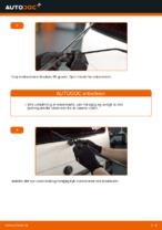 Hvordan man udskifter viskerblade i bag på VOLKSWAGEN TRANSPORTER T4 (70XB, 70XC, 7DB, 7DW)